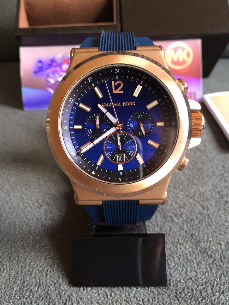 relogio michael kors mk8295 azul 100% original 12x s  juros. Carregando  zoom. e6ed65e751