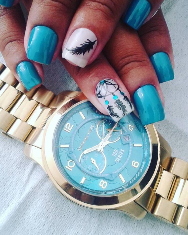 6abc3b60774a0 relógio michael kors mk8315 dourado turquesa 100% original. Carregando zoom.