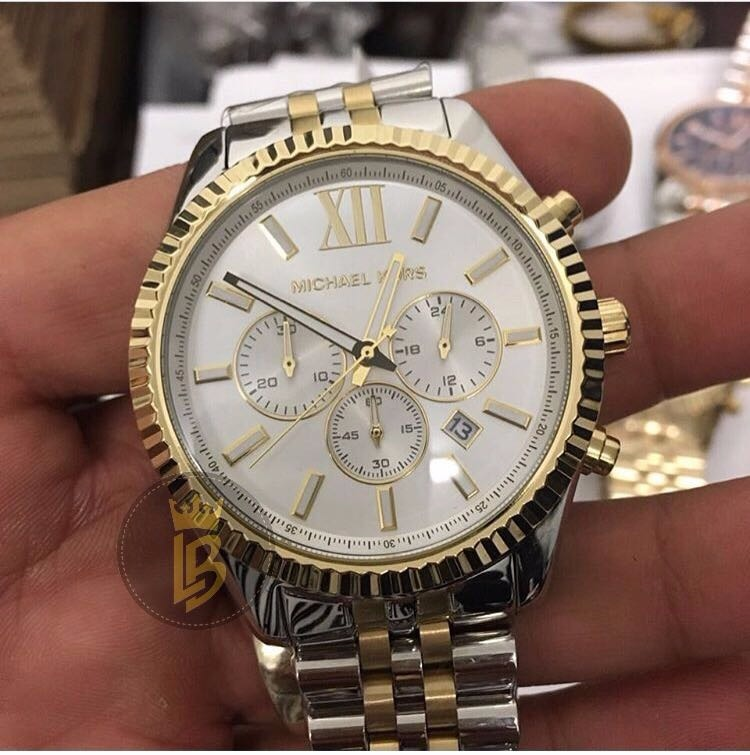 d577b630064 Relógio Michael Kors Mk8344 Unissex Oversize Estilo Rolex - R  799 ...
