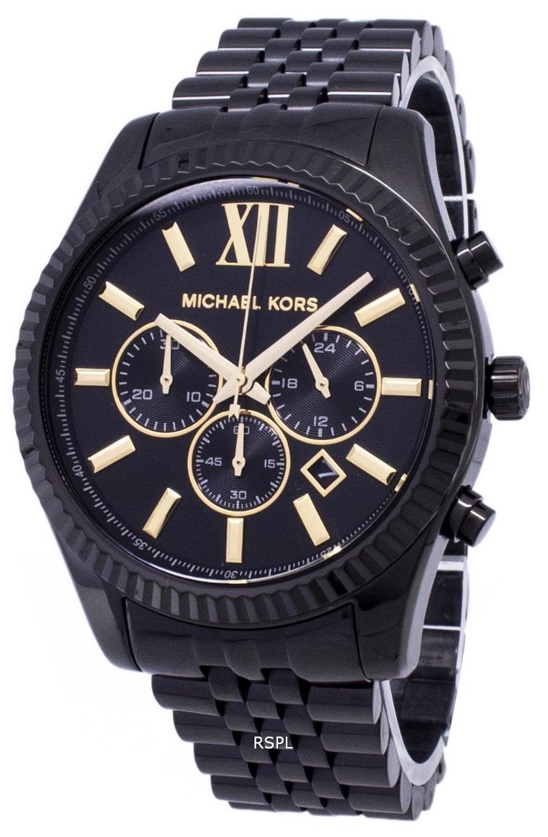 01c09f5272096 relógio michael kors mk8603 lexington preto original. Carregando zoom.