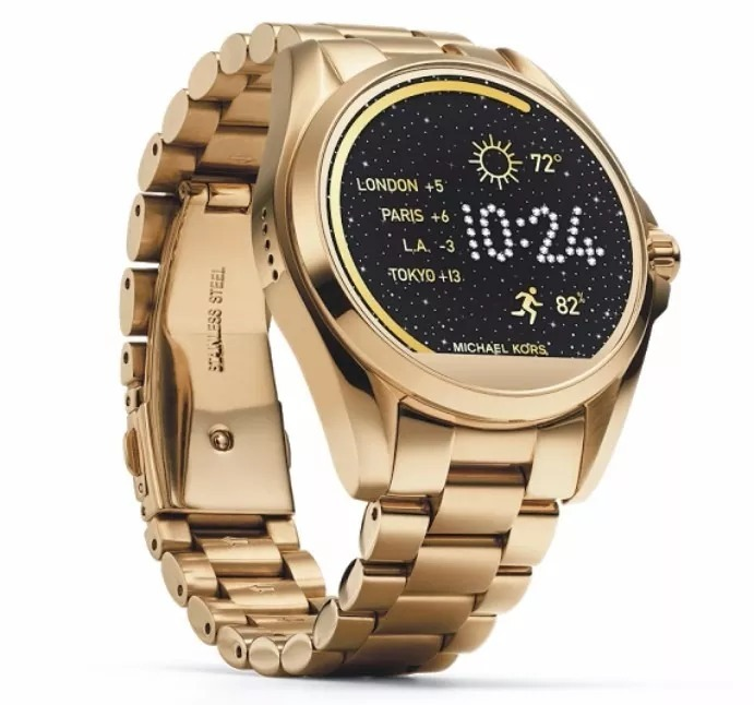b70f9df08ac Relogio Michael Kors Mkt5001 Access Gold Dourado Smartwatch - R  2.299