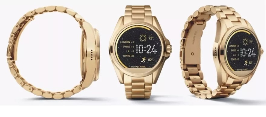 f608ceeee24 relogio michael kors mkt5001 access gold dourado smartwatch. Carregando  zoom.