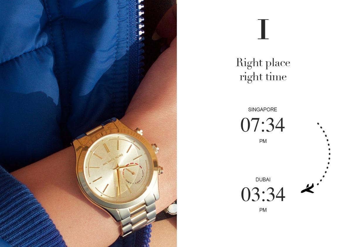 ff050f07c04 relógio michael kors original hybrid smartwatch dourado nota. Carregando  zoom.