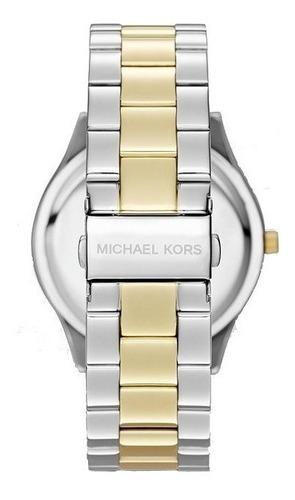 relógio michael kors original mk3198 slim prata e dourado