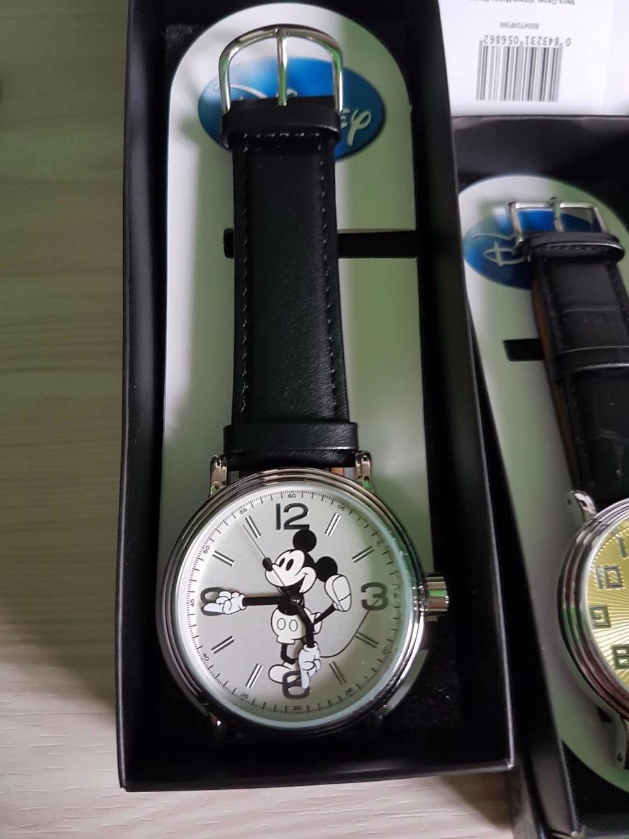 d1168e89057 relógio mickey mouse original disney pulseira de couro cinza. Carregando  zoom.