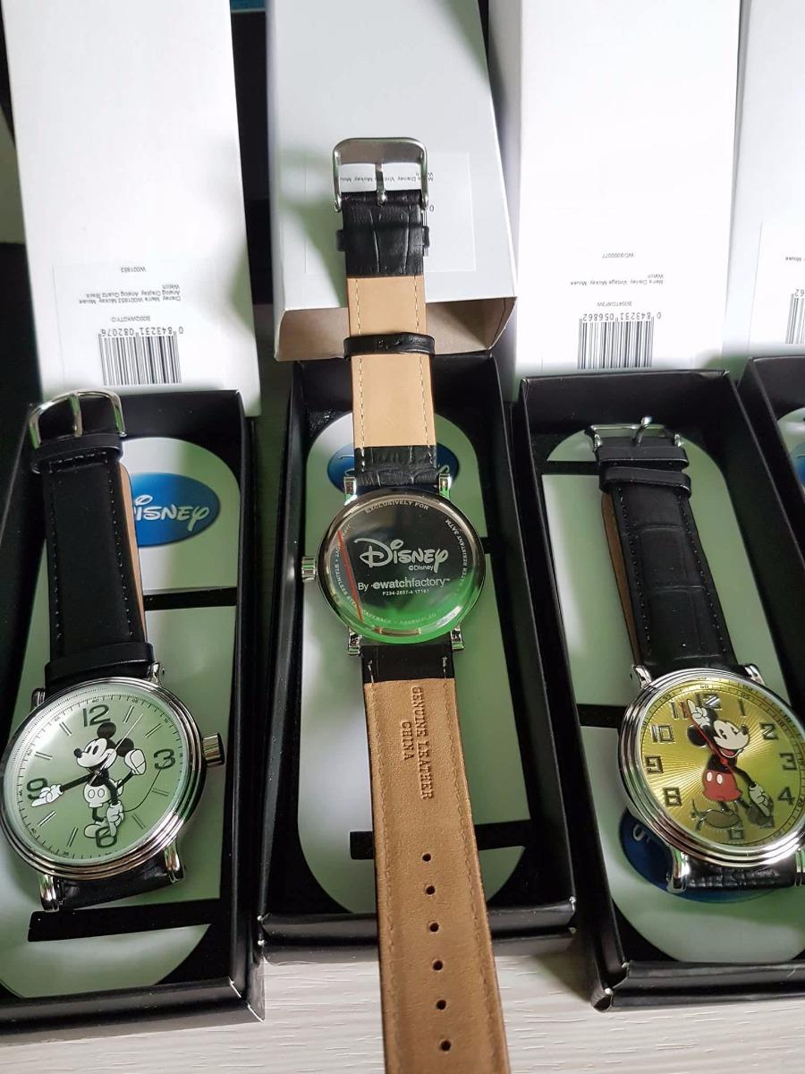 5f56201309a relógio mickey mouse original disney pulseira de couro preto. Carregando  zoom.