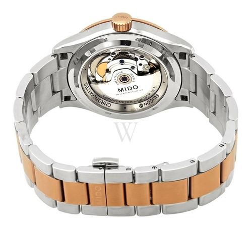 relógio  mido multifort automático branco -m0384312203100