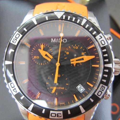 relógio mido ocean star captain m0114171705190  cronografo
