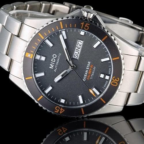 relógio mido ocean star m0264304406100 automatico titanium