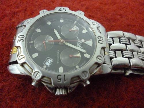 relógio mido, raro, quartz, aço inox, caixa e pulseira,swiss
