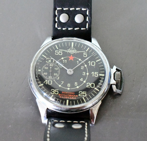 relógio militar aviador russo original de época - raro