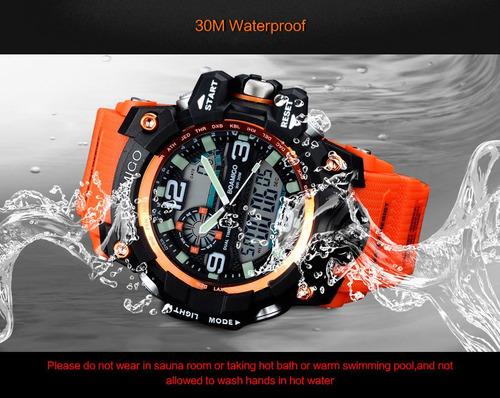 relógio militar digital prova d'água esportivo