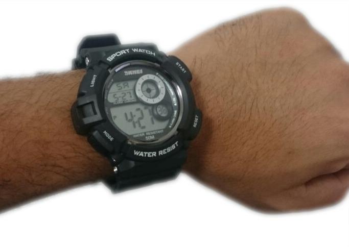 2ff0a6f7b6c Relógio Militar Digital Skmei S-shock Prova D água 1222 - R  99