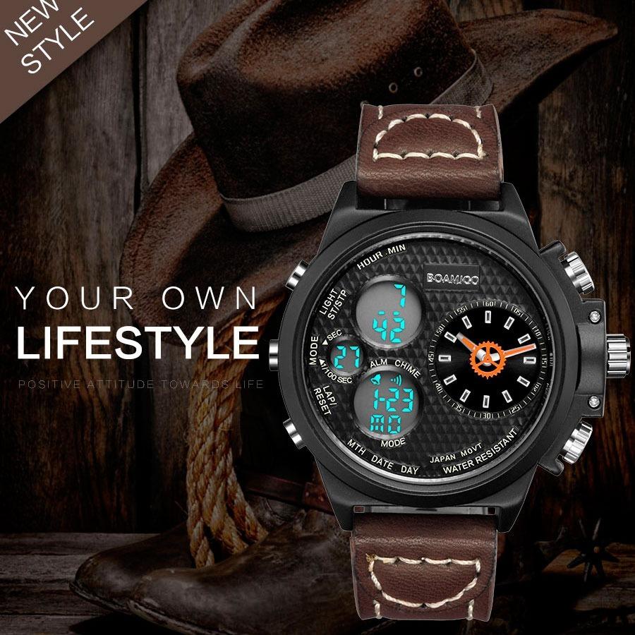 72ac854322e relogio militar esportivo digital e analogico estilo cowboy. Carregando  zoom.