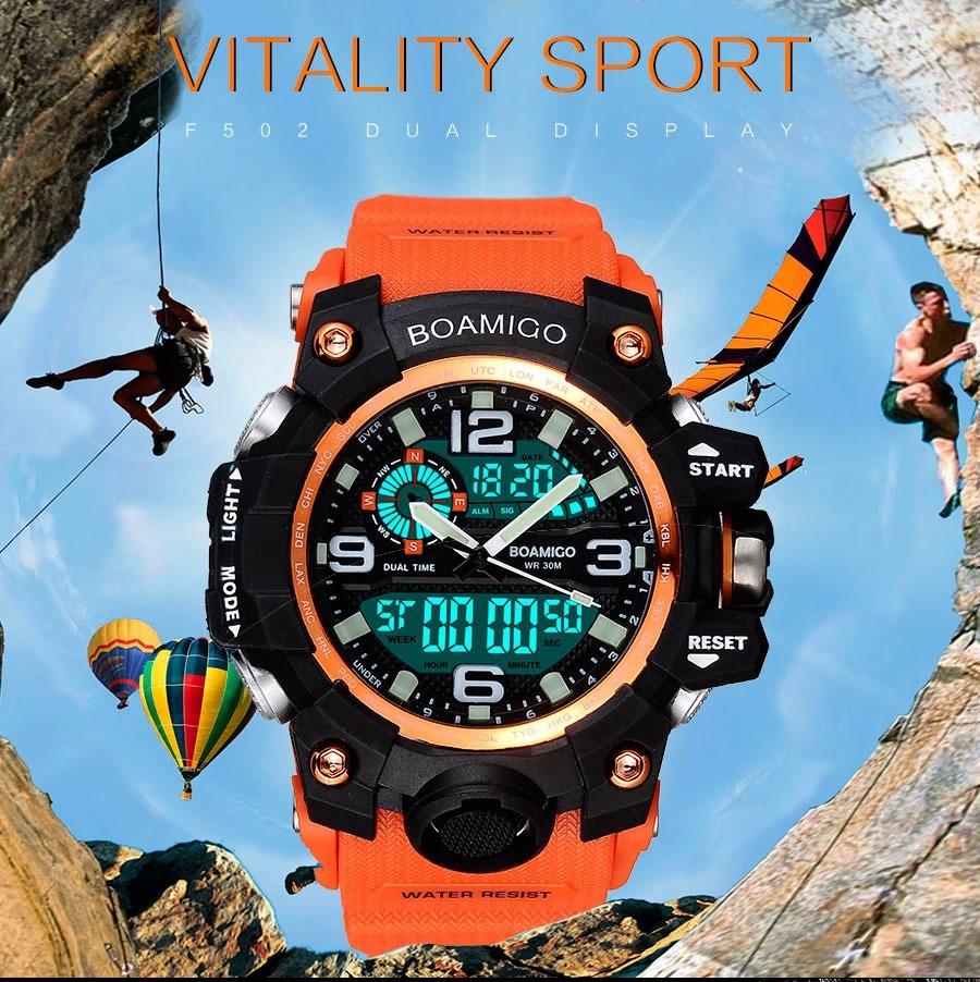 68c16910e05 relogio militar esportivo digital e analogico luxo masculino. Carregando  zoom.