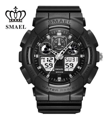 relógio militar esportivo digital smael 1027 prova d,água