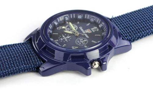 relógio militar gemius army estilo 2º guerra mundial azul