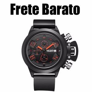 af2294611e7 Relógio Militar Masculino Megir À Prova D água Frete Barato - R  150 ...