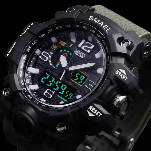 relógio militar masculino shock  digital smael prova d' agua