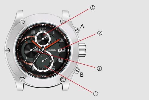 relógio militar masculino sinobi à prova d'água - cronógrafo