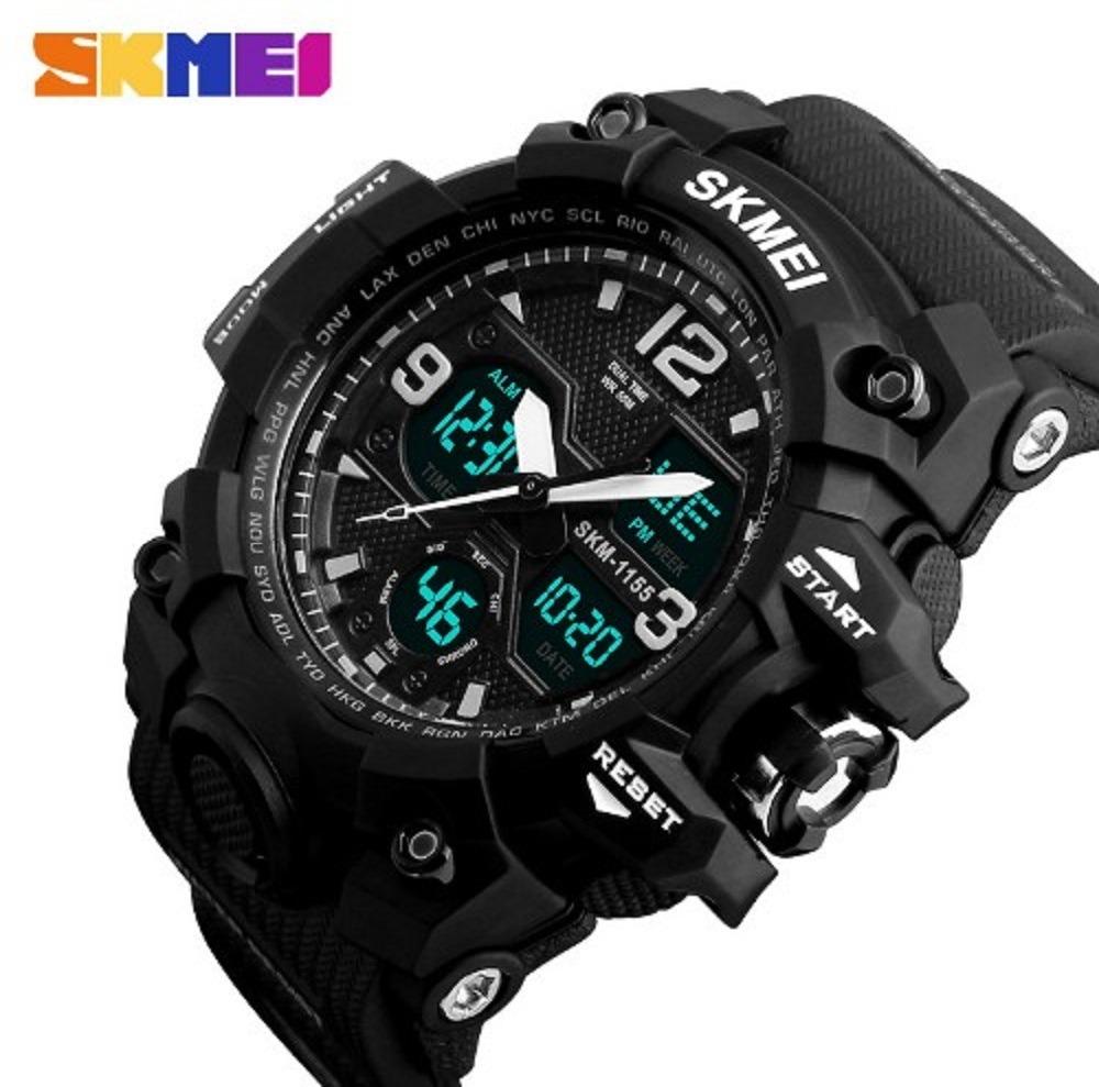 bc4082eb982 relógio militar masculino skmei 1155b original prova d água. Carregando  zoom.
