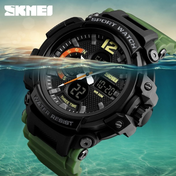 3b790d69c3c Relógio Militar S-shock Skmei Airsoft Digital-analogico - R  75