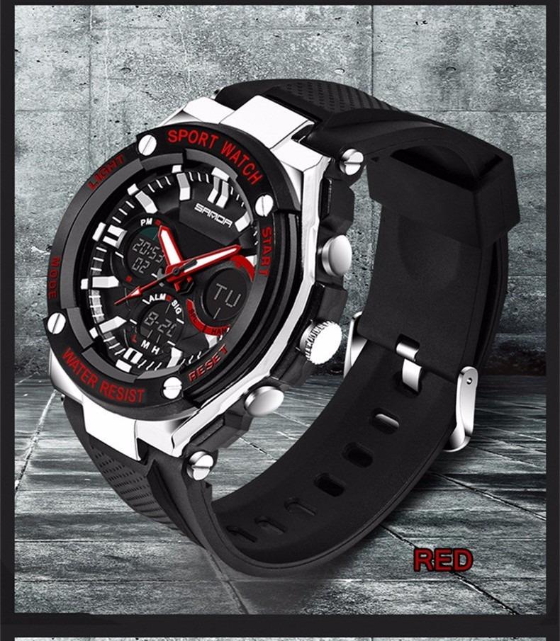 6ee4701020b Relógio Militar Sanda 733 Wr 30m Aço Inox À Prova D água - R  71