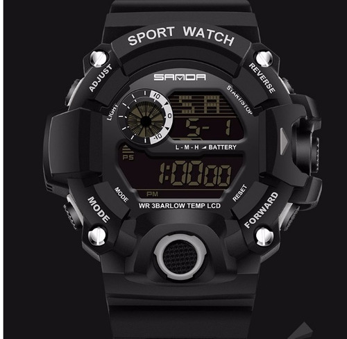 relógio militar sanda s-shock prova dagua black frete grátis