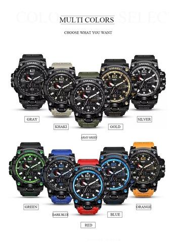 relógio militar smael analógico/digital shock 12x s.juros