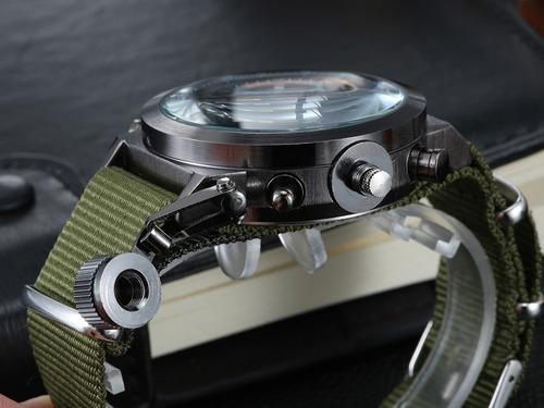 relogio militar verde digital amst original quartz masculino