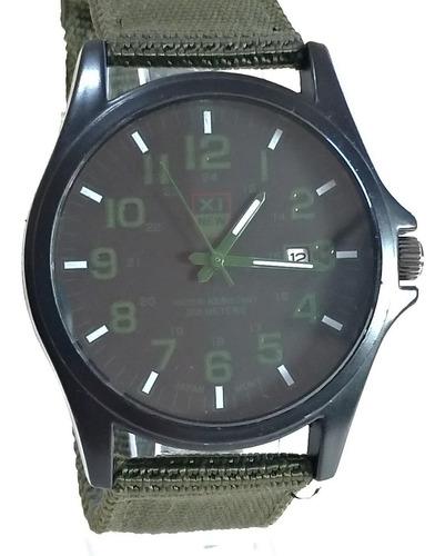 relógio militar xl new verde - novo.