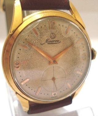 a20b0eccaac Relógio Minerva Plaquê Ouro Antigo Coleção Suiço - R  468