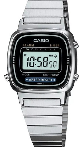 relógio mini casio digital la670 feminino caixa original