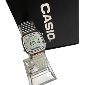 Relogio Mini Casio Digital La670 Prata  Feminino Original Nf