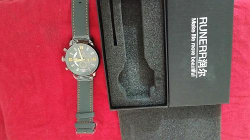 relógio mini focus couro original