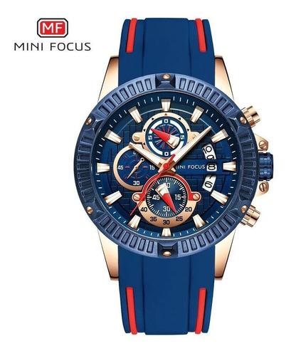 relógio minifocus original azul com nf e garantia