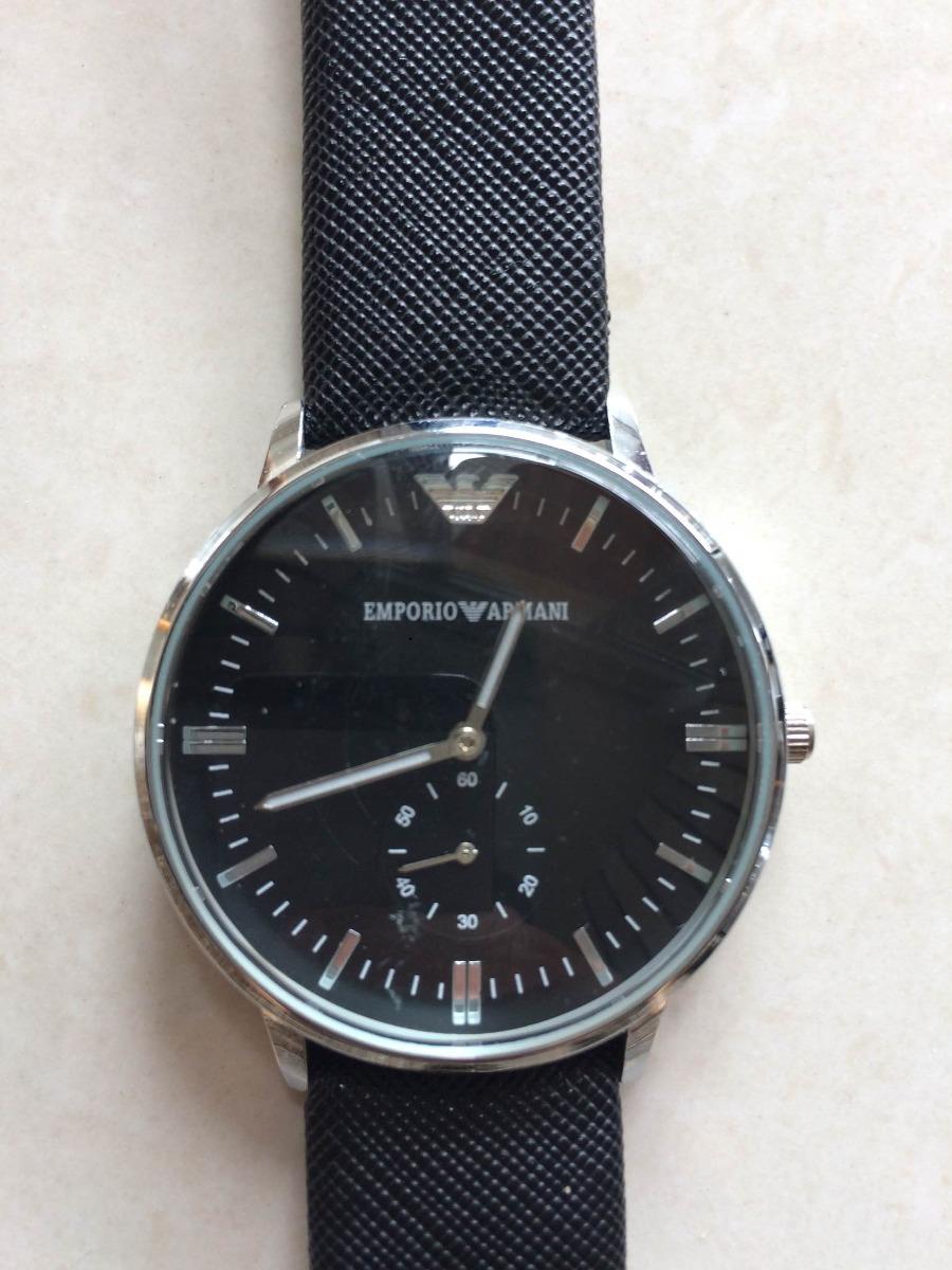 a1dea66e3e2 relógio minimalista empório armani masculino pulseira couro. Carregando  zoom.