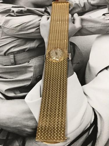 relógio mirviane 17 rubis, suiço, todo em ouro 18k, 55,3 gr