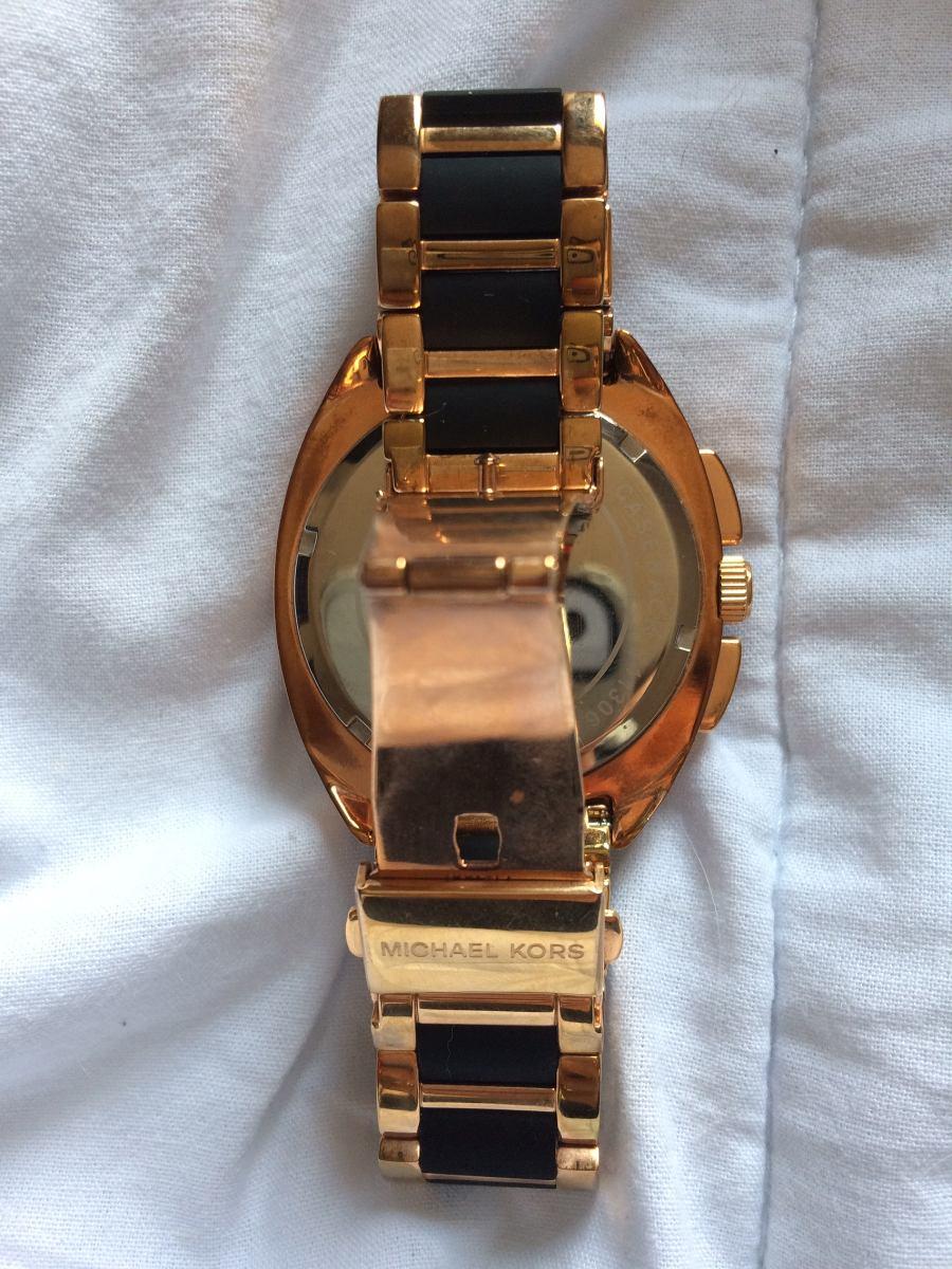 3a29a84aa7139 Relógio Mk Original Rosê E Preto - R  800,00 em Mercado Livre