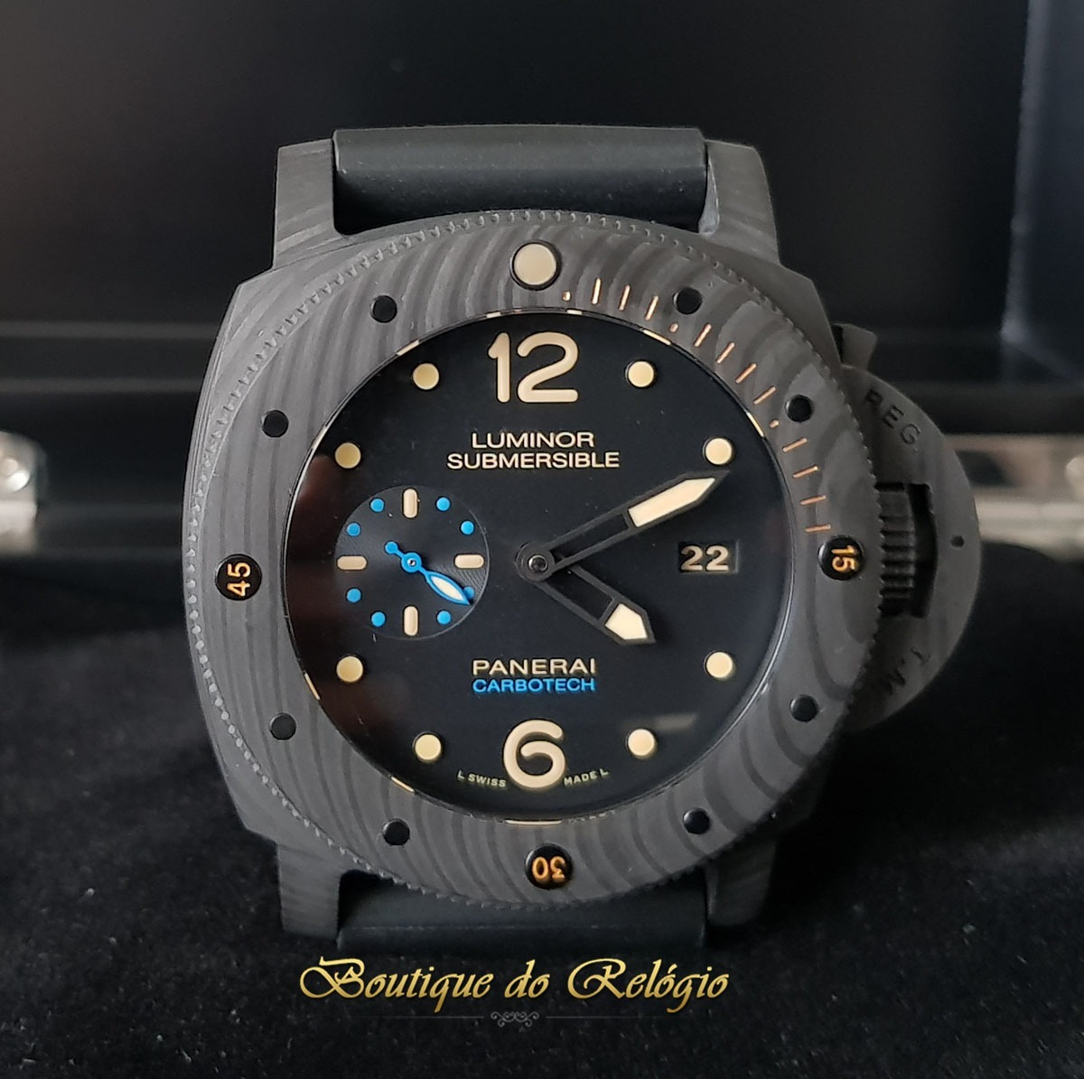 b3d3fb7a3f8 Relógio Mod. Eta - Submersible 1950 3 Days Carbotech 47mm - R  2.999 ...