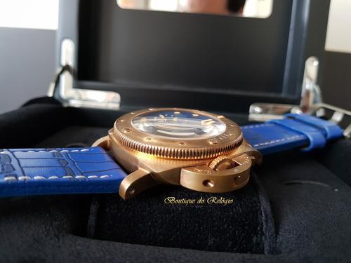 320598d53b2 relógio mod eta - submersible 1950 bronzo pulseira exclusiva. Carregando  zoom.