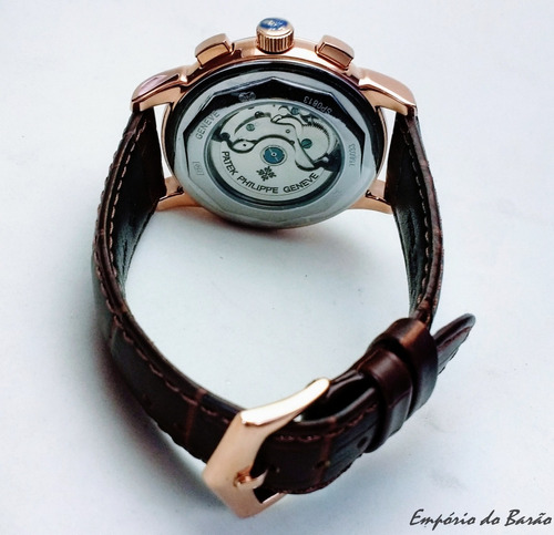 relógio mod. moonphase p. philippe calend. perpétuo rose g.
