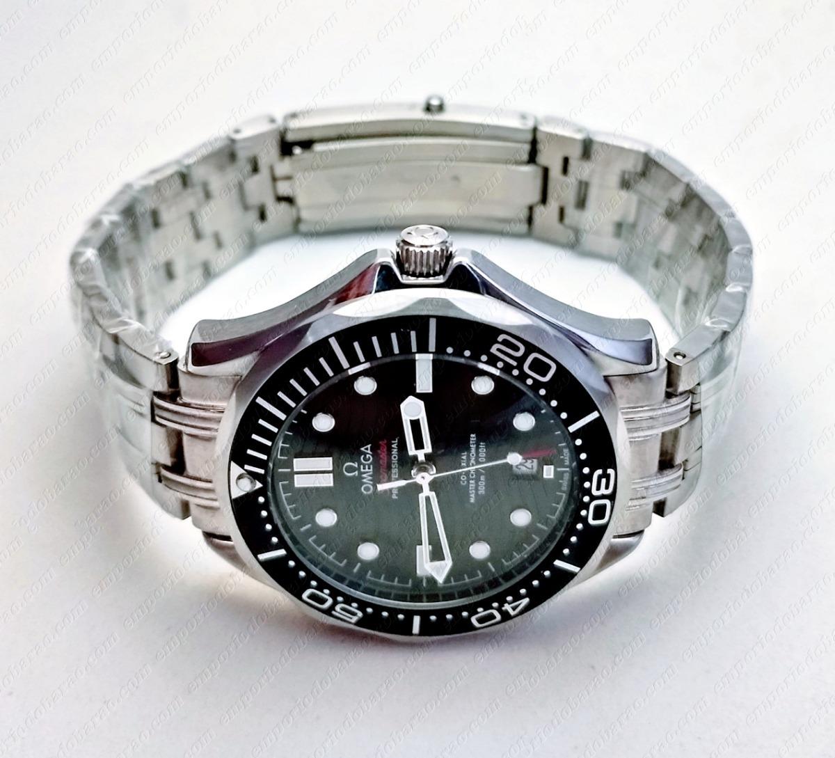 aee8f21c2b5 relógio modelo seamaster omega black d. Carregando zoom.