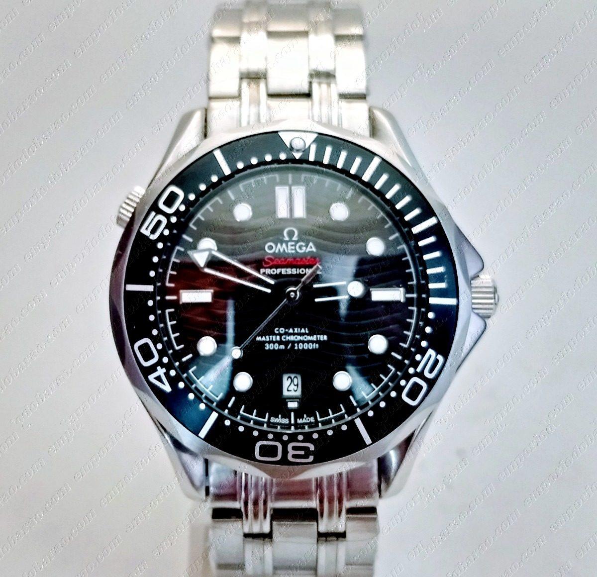 2d8037009cb relógio modelo seamaster omega black d. Carregando zoom.