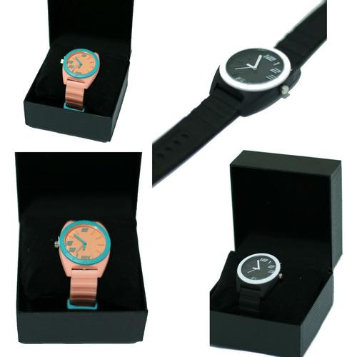 relógio moderno borracha colorido feminino juvenil barato