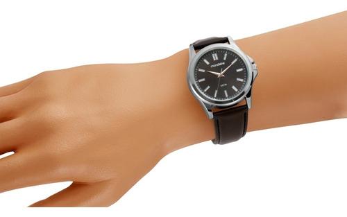 relógio mondaine análogo social pulseira de couro