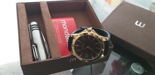 relógio mondaine dourado masculino