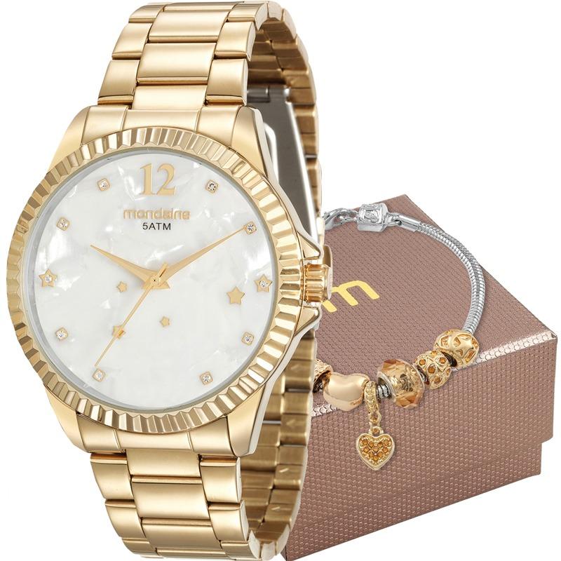 a0eac3828 Kit Relógio Mondaine Feminino Com Pulseira 99129lpmkde2k2 - R  215 ...