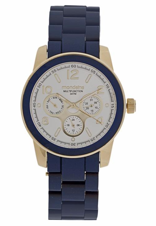 cb0e3eb7807 Relógio Mondaine Feminino Absolut 94292lpmgdp7 Azul Dourado - R  199 ...