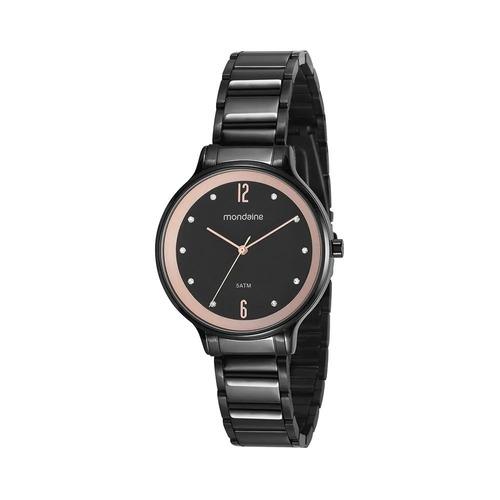 relógio mondaine feminino analógico preto 53626lpmvpe1